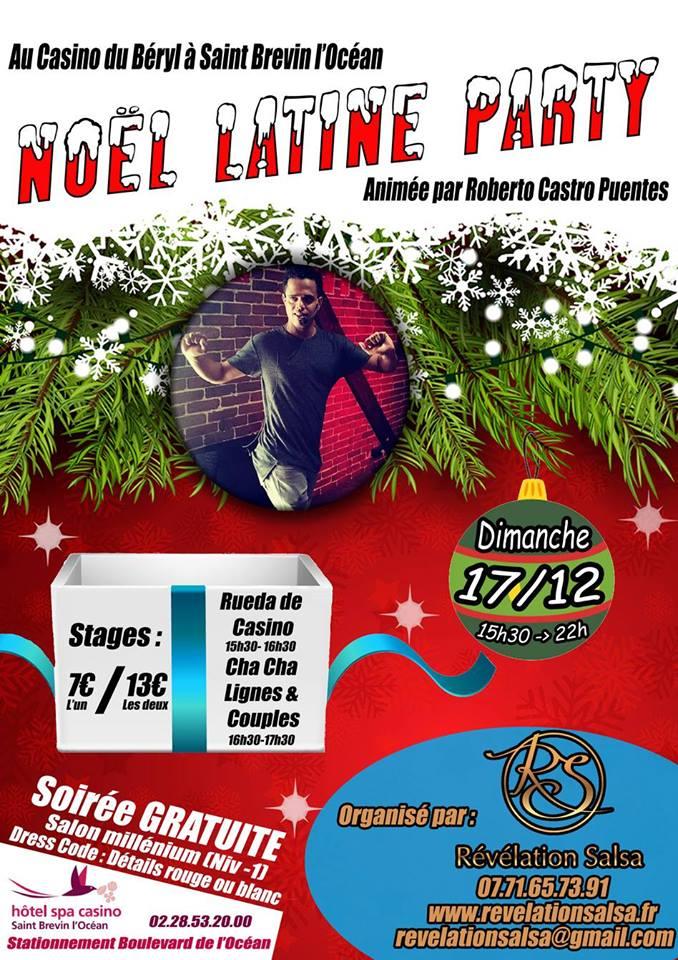 Noël Latine Party dimanche 17/12/2017 au Casino de Saint Brevin