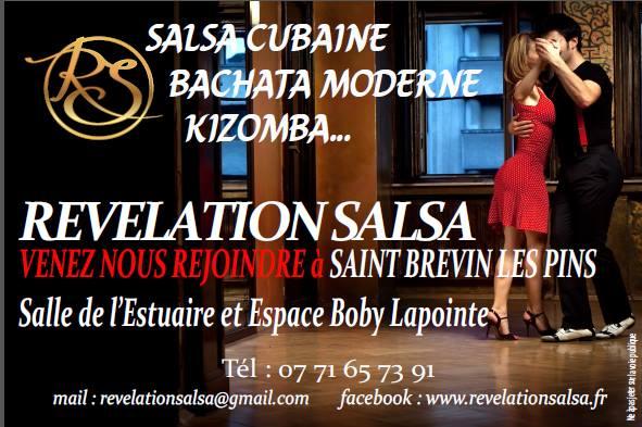Portes ouvertes de l'association Révélation Salsa les 5 et 6 septembre 2018 à l'espace Boby Lapointe de Saint-Brevin-les-Pins